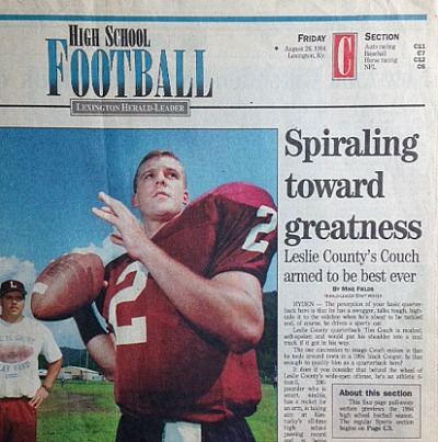 The day after Tim Couch was on the cover of the Herald-Leader's 1994 high school football preview, he starred in the 47th Recreation Bowl.