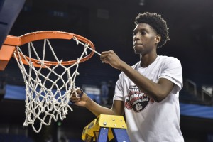 Taveion Hollingsworth took home Sweet Sixteen MVP honors. (Photo by Tim Webb)