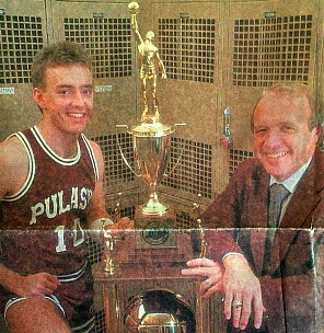 Dave Fraley and his son Shannon posed with the state championship trophy for the Herald-Leader's 1986-87 pre-season section.