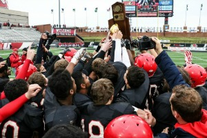 Mayfield celebrated its 2014 state championship victory over Williamsburg.