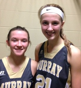 Murray's Macey Turley, left, and Maddie Waldrop.